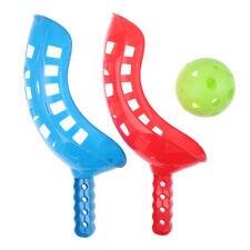 New listing Scoop Ball Set Catching Game Trackball Sport Lacrosse Racket Game Toys Kids OL8E