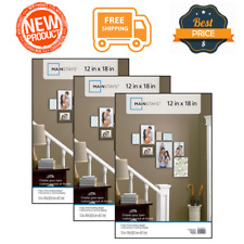 """Set of 3 Format Poster Picture Photo Frame 12x18"""" Wall Mount Home Decor, Black"""