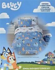 Bluey Bingo Dog Single Reversible Boys Girls Kids Quilt Bedroom Bed Cover Set