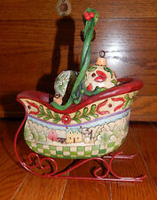 "NWOB Jim Shore Heartwood Creek ""Sleigh Bells Ring"" with 5  Ornaments #4009195"