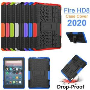 Case For Amazon Fire HD 8 / 8 Plus 2020 Slim Shockproof Armor Stand Tablet Cover