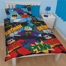 Lego Bricks Batman DC Comics Dynamic Single Cover Duvet Set Quilt Kids Bedding