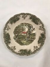 """JOHNSON BROTHERS FRIENDLY VILLAGE """"THE STONE WALL"""" SOUP BOWLS"""