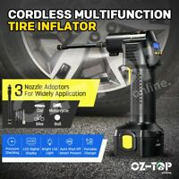 12V Cordless Tyre Inflator Electric Tyre Pump Car Air Compressor  w/ Digital LCD