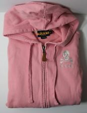 Ralph Lauren Rugby Skull and Crossbones Women's Medium Pink Hoodie Jacket