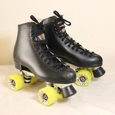Roller Skates Riedell Sz 8 121 Boot | Sure Grip Super X 6 Yellow Hyper Rollo 62