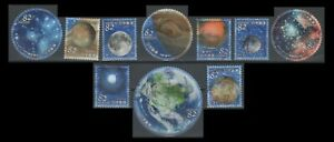 Japan 2019 Space - Celestial Bodies (10 USED Stamps)
