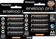 8x Panasonic eneloop pro rechargeable AA 2550mAh battery 2x 4pk