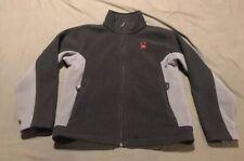 Spyder Youth Large Boys Full Zip Fleece Jacket Gray Black