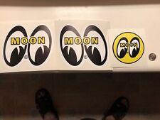 MOON EYES Iconic old school HOT ROD Stickers MINT C@@L Mooneyes 4 pc LOT