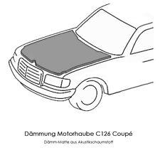 Dämm-Matte für Mercedes Benz 560 SEC / 560SEC C126 Motorhauben-Dämmung