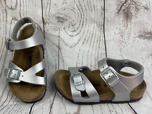 Birkenstock Silver Girls's/Boy's Sandals Toddler Size 6US 24/100/c6