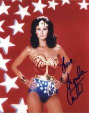 SIGNED RP Lynda Carter' Wonder Women' 8X10 COLOR RP PHOTO  w/coa Free Shipping