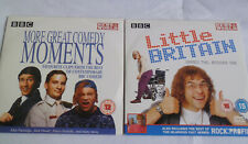 Promo DVDS - GREAT COMEDY MOMENTS & LITTLE BRITAIN- Never been played - Free P&P