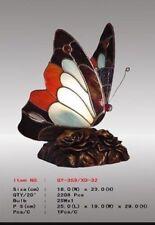 Tiffany Lampe Tischleuchte Schmetterling, weiß braun rot, neu