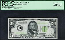 $50 1934 St. Louis  FRN. LGS. PCGS 67 PPQ. Top Pop Scarce Note.