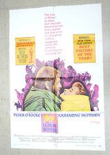 The Lion In Winter One Sheet Movie Poster 1969