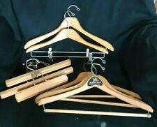 8 Vintage Wooden Clothes Coat Pant Hangers Assortment