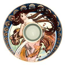 "Goebel PORCELANA SOPORTE DE VELA ""Alphonse Mucha - Der Tanz 1898"" - NUEVO"