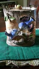 Vintage Relpo Japan Blue Bird Cookie Jar RARE, some small chips but beautiful!