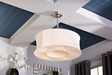 Allen roth ceiling fans ebay fancy 30 elegant ceiling fan remote unique linen drum light brushed nickel aloadofball Images