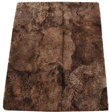 éco peau d'AGNEAU d'Islande Tapis 160 x 190 cm de fourrure châtaignier en 6