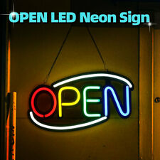 """20""""x10"""" Led Neon Open Sign Light Display Business Cafe Bar Club Store Wall Decor"""