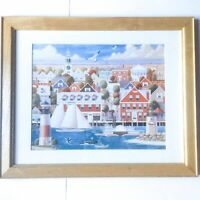 "Antique Nantucket Print Framed and Matted 23""x19"""