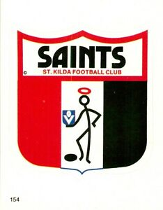 ✺New✺ 1984 ST KILDA SAINTS AFL Sticker CLUB LOGO Scanlens Card