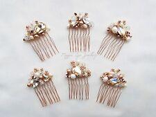 Small bridal hair comb slide, bridesmaids, bride, flowergirl, weddding guest uk