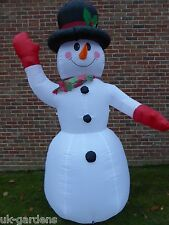 Large ChrIstmas Inflatable Snowman Snow Man Decoration 240cm Tall 8 LEDs Outdoor