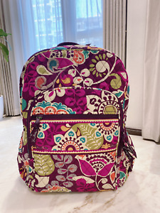 NWT Vera Bradley  plum crazy Campus backpack Purple FREE SHIPPING FAST
