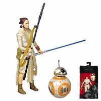 REY (JAKKU) and BB-8 WITH LIGHTSABER Star Wars The Black Series 6-inch Figure