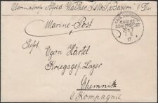 GERMANY, 1917. Feldpost Cover Marine Schiffspost No.7, S.M.S. Bayern