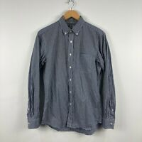 Uniqlo Mens Button Up Shirt Size Small Grey Plaid Long Sleeve Collared