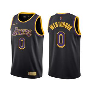 Men's Los Angeles Russell Westbrook Black2021Swingman Player Jersey Icon Edition