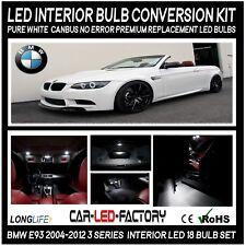 Premium LED Interior Light Conversion Kit BMW E93 3 Series 2004-12 White 18 Bulb