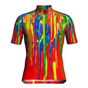 Short Cycling Jersey MTB Mountain Bike T-shirt Downhill Jacket Red Clothing Cool
