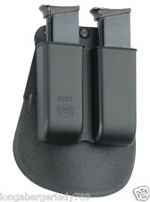 FOBUS PADDLE HOLSTER DOUBLE MAG POUCH SINGLE STACK 22 + CLIP BELT HOLDER .380
