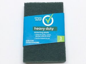 """SIMPLY DONE HEAVY DUTY SCOURING PADS 5.9"""" X 3.9"""" 3 PACK"""