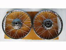 """HONDA 50 SUPER CUB C100 CA100 C102 CA102 FRONT & REAR WHEEL SET """"CHROME"""" (bi)"""