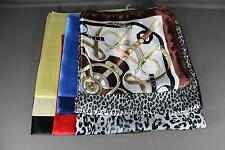 "Satin silky feel square scarf wrap neckerchief hair headband tie kerchief 19"""