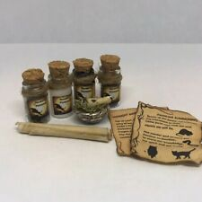 WITCH ESSENTIALS Dollhouse Miniature Halloween Potion Lot 1:12 Haunted