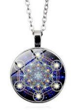 Collier Pendentif Style Constellation Mandala, Acier.