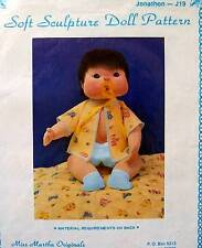 "Miss Martha Soft Sculpture Doll Pattern  Jonathon  19""  Vintage  NIP"