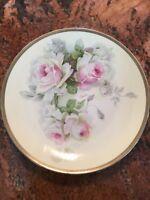 """Vintage O & E.G. Royal Austria 9"""" Floral Pink Rose Plate Martin"""