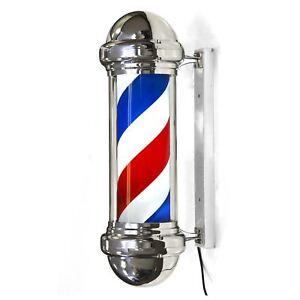 Jitsu LED Classic Rotating Illuminating Barber Pole Sign Salon Hairdresser
