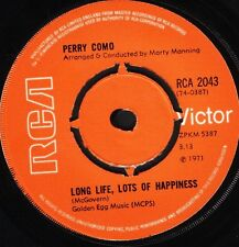 "PERRY COMO long life lots of happiness/it's impossible RCA 2043 uk 7"" WS EX/"