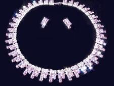 Rhinestone Choker Necklace Set~Women's Costume/Bridal/Prom Jewelry