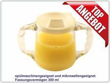 Klarsicht-Trinkbecher Schnabeltasse mit 2 Henkel, 300ml